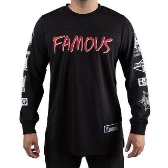 t-shirt street uomo - Raised On Rap - FAMOUS STARS & STRAPS - Black