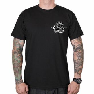 Maglietta da uomo BLACK HEART - HOTRODER SKULL - NERO, BLACK HEART