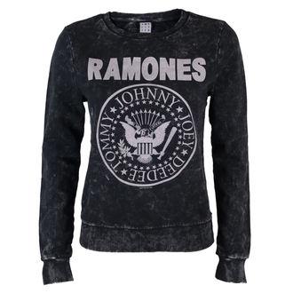 felpa senza cappuccio donna Ramones - Macrame Sweat - AMPLIFIED, AMPLIFIED, Ramones