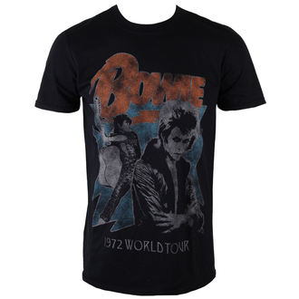 t-shirt metal uomo David Bowie - 1972 World Tour - ROCK OFF, ROCK OFF, David Bowie