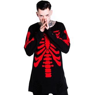 cardigan (unisex) KILLSTAR - Skeletor - Red, KILLSTAR