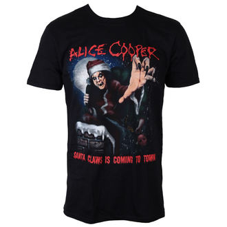 t-shirt metal uomo Alice Cooper - Santa Claws - ROCK OFF, ROCK OFF, Alice Cooper