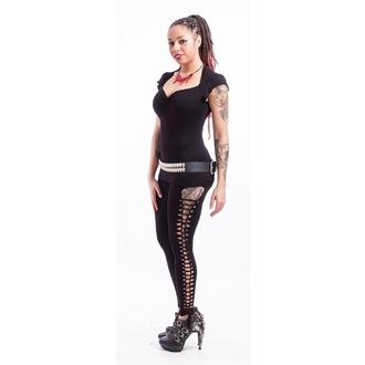 pantaloni donna (leggings) NECESSARY EVIL - Terra, con Strappi - Nero, NECESSARY EVIL