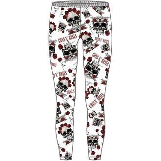 pantaloni donna (leggings) Guns N' Roses - Skull & Roses - ROCK OFF - GNRLEG01