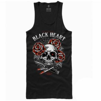 Canotta da donna BLACK HEART - LIPSTICK SKULL - NERO, BLACK HEART