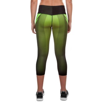 pantaloni donna 3/4 (leggings) VENUM - Rasoio - Nero/Giallo, VENUM