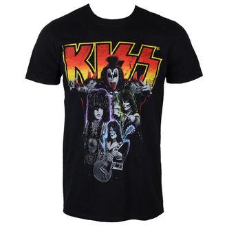 t-shirt metal uomo Kiss - Neon Band - PLASTIC HEAD, PLASTIC HEAD, Kiss