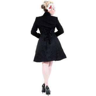 cappotto donna primaverile / autunnale HEARTS E ROSES - Nero Brocade, HEARTS AND ROSES