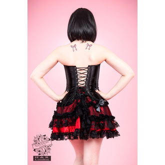 corsetto donna HEARTS E ROSES - Nero Satin, HEARTS AND ROSES