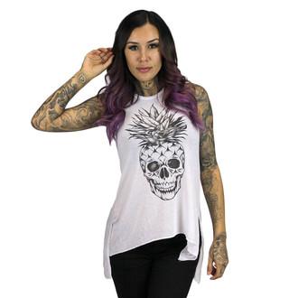 top donna SULLEN - Ananas Skull - White, SULLEN