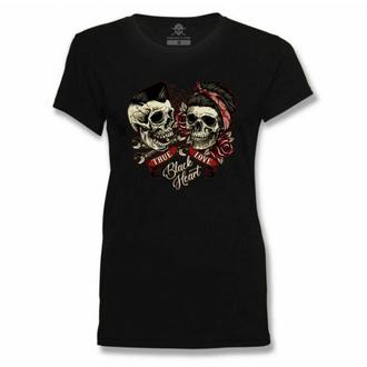 Maglietta da donna BLACK HEART - TRUE LOVE - NERO, BLACK HEART