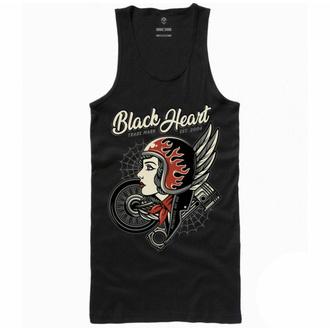 Canotta da donna BLACK HEART - MOTORCYCLE GIRL - NERO - 9124