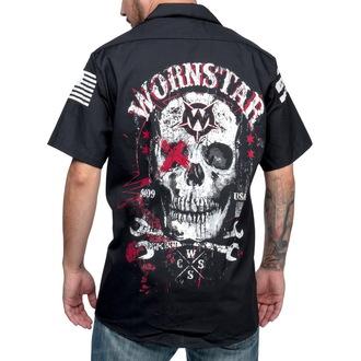 camicia uomo WORNSTAR - Death Meccanico - Nero, WORNSTAR