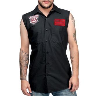 camicia uomo senza senza maniche WORNSTAR - Skull - Nero