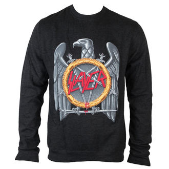 felpa senza cappuccio uomo Slayer - Silver Eagle Puff Print - ROCK OFF, ROCK OFF, Slayer