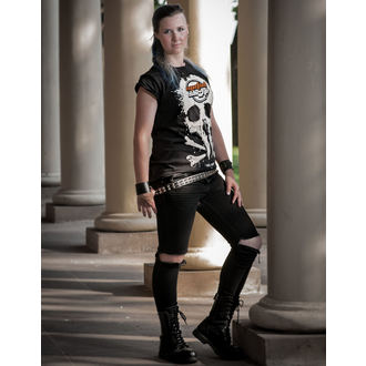 t-shirt metal donna - Black - METALSHOP, METALSHOP