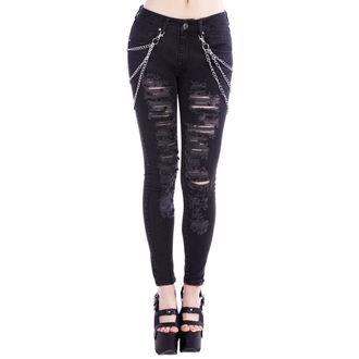 pantaloni donna DISTURBIA - Nero Metal, DISTURBIA