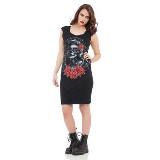 vestito donna VOODOO VIXEN - Nero Marlyn, JAWBREAKER