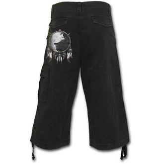 pantaloncini uomo 3/4 SPIRAL - Wolf Chi - Nero, SPIRAL