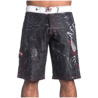 costume da bagno da uomo a pantaloncini AFFLICTION - Wild Wing - BK, AFFLICTION