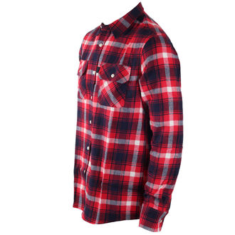 camicia uomo INDEPENDENT - Faction Red Check, INDEPENDENT