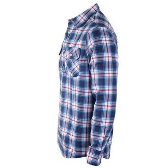 camicia uomo INDEPENDENT - Faction Blue Check, INDEPENDENT