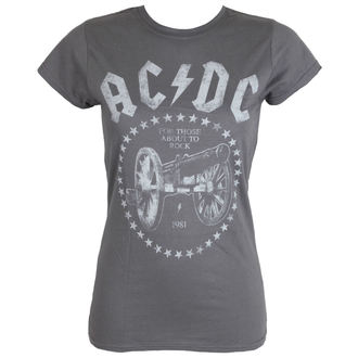 t-shirt metal donna AC-DC - FTA2R - Charcoal - LIVE NATION, LIVE NATION, AC-DC