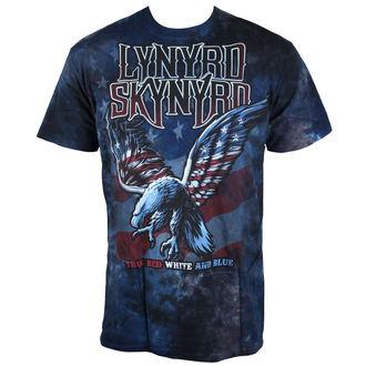 t-shirt metal uomo Lynyrd Skynyrd - True Red, White & Blue Tie-Dye - LIQUID BLUE, LIQUID BLUE, Lynyrd Skynyrd