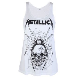 Top donna Metallica - Web skull Mono - bianca - ATMOSPHERE, Metallica