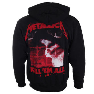 felpa con capuccio uomo Metallica - Mutated Kill Em All Mutated Black -, Metallica