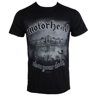 t-shirt metal uomo Motörhead - Clean Your Clock B&W - ROCK OFF, ROCK OFF, Motörhead