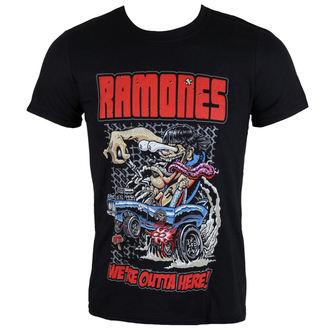 t-shirt metal uomo Ramones - Outta Here - ROCK OFF, ROCK OFF, Ramones