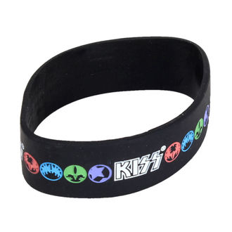 braccialetto Kiss - Logo & Icons - ROCK OFF, ROCK OFF, Kiss