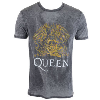 t-shirt metal uomo Queen - Crest - ROCK OFF, ROCK OFF, Queen