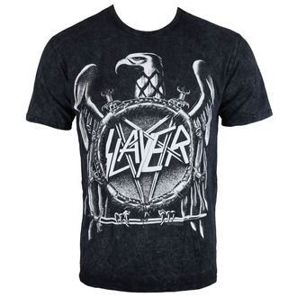 t-shirt metal uomo Slayer - Hi Contrast Eagle Puff Print - ROCK OFF, ROCK OFF, Slayer