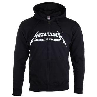 felpa con capuccio uomo Metallica - Hardwired Album Cover - - RTMTLZHBHAR