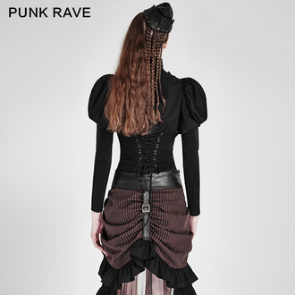 camicia da donna PUNK RAVE - Queen of hearts - Black, PUNK RAVE