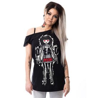 t-shirt donna - DEAD INSIDE OFF SHOULDER T - CUPCAKE CULT, CUPCAKE CULT