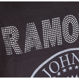 Canotta uomo RAMONES - LOGO SILVER DIAMANTE - CARBONE - AMPLIFIED, AMPLIFIED, Ramones