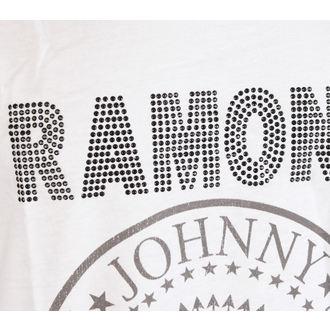Canotta uomo RAMONES - LOGO SILVER DIAMANTE - BIANCA - AMPLIFIED, AMPLIFIED, Ramones