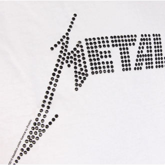 t-shirt metal uomo Metallica - BLACK LOGO DIAMANTE - AMPLIFIED, AMPLIFIED, Metallica