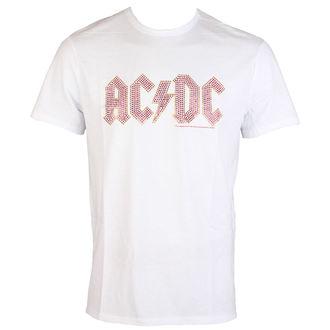 t-shirt metal uomo AC-DC - CLASSIC LOGO WHITE RED - AMPLIFIED, AMPLIFIED, AC-DC