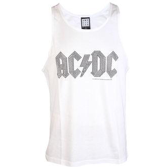 Canotta da uomo  AC  /  DC  - BLACK LOGO DIAMONTE WHITE - AMPLIFIED, AMPLIFIED, AC-DC