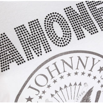 t-shirt metal donna Ramones - LOGO DIAMANTE - AMPLIFIED, AMPLIFIED, Ramones