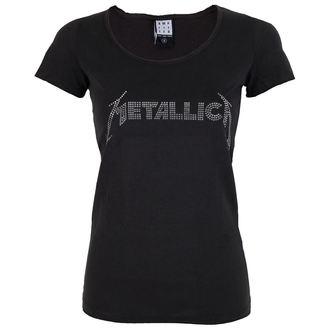 t-shirt metal donna Metallica - SILVER LOGO DIAMANTE - AMPLIFIED, AMPLIFIED, Metallica