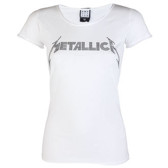 t-shirt metal donna Metallica - CLASSIC LOGO WHITE - AMPLIFIED, AMPLIFIED, Metallica