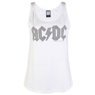 Canotta onna  AC  /  DC  - CLASSIC LOGO WHITE - AMPLIFIED, AMPLIFIED, AC-DC
