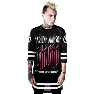 t-shirt donna Marilyn Manson - Use Your Fist Hockey Team - KILLSTAR, KILLSTAR, Marilyn Manson