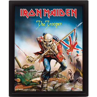 immagine 3D Iron Maiden - The Trooper, PYRAMID POSTERS, Iron Maiden