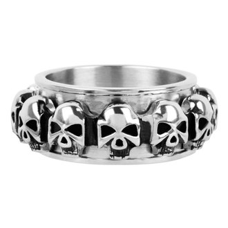 anello INOX - skulls around, INOX